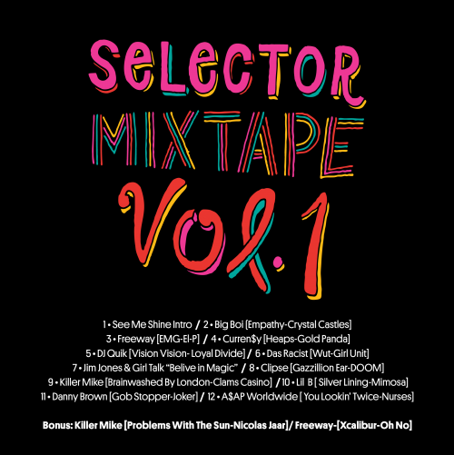 Selector Mixtape Back cover