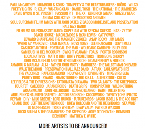 bonnaroo 2013 lineup
